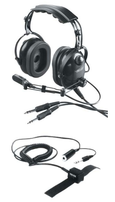 Figure 9-3. Boom Microphone, Headset, and Push-To-Talk Switch.