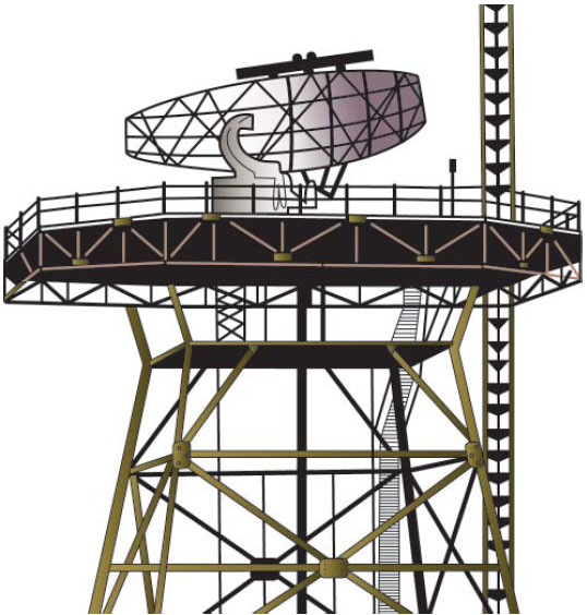 Figure 9-7. Combined Radar and Beacon Antenna.