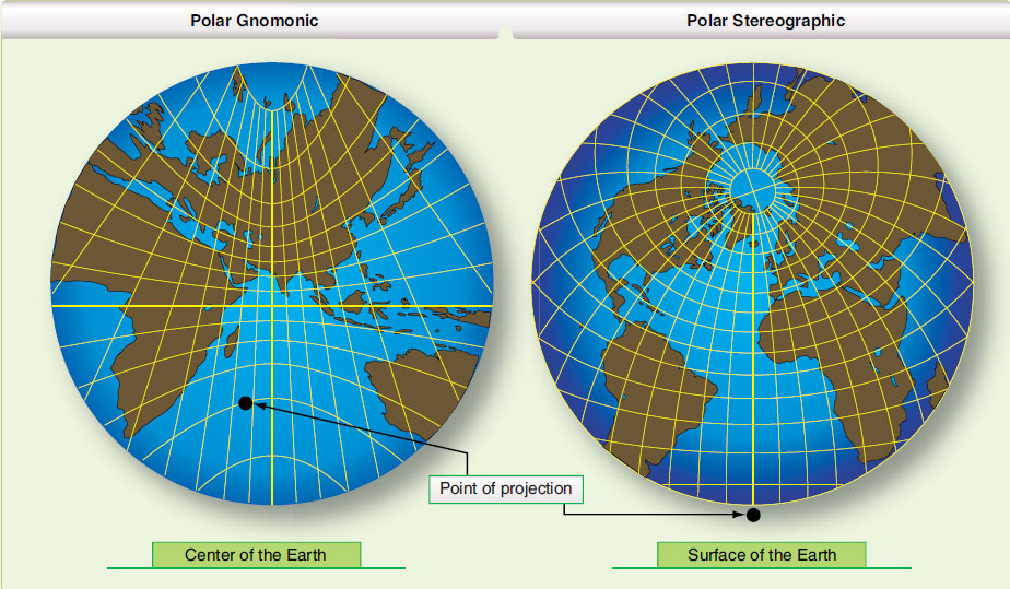 how to draw gnomonic projection