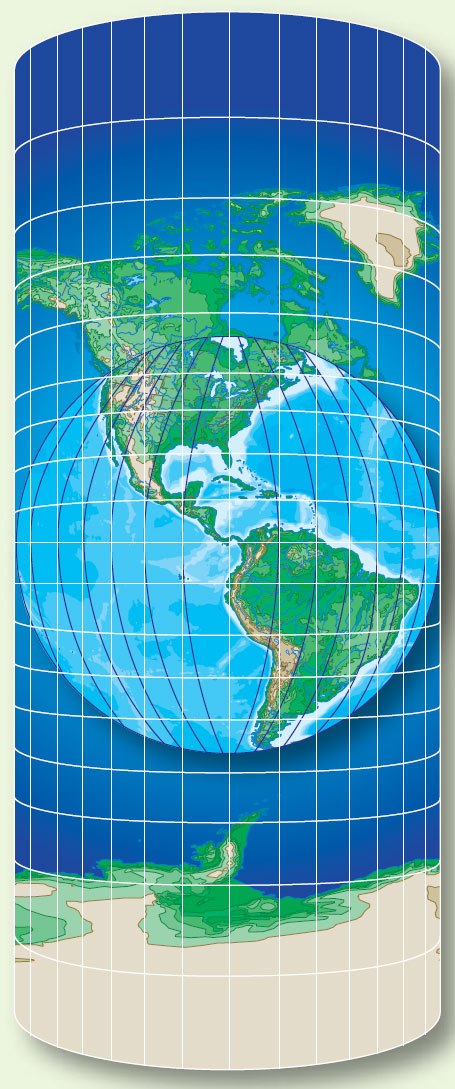 Figure 1-22. Cylindrical projection.