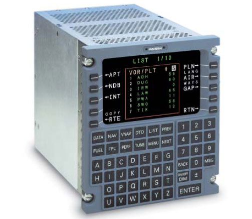 Figure 3-44. A Control Display Unit (CDU) Used to Control the Flight Management System.