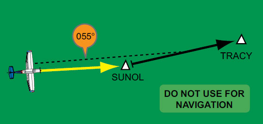 Figure 3-39. A more complicated course intercept scenario.